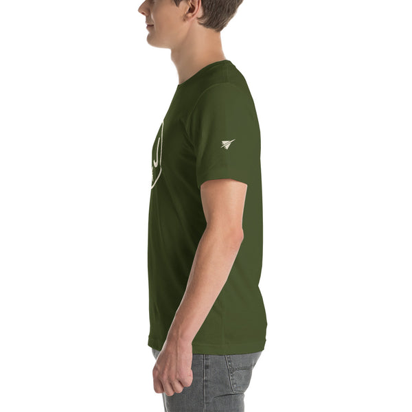 YHM Designs - YYJ Victoria Airport Code T-Shirt - Adult - Olive Green - Christmas Gift