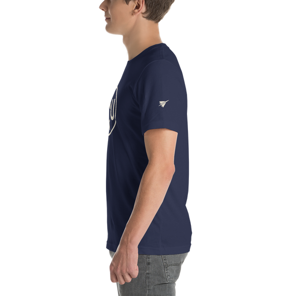 YHM Designs - YXU London Airport Code T-Shirt - Adult - Navy Blue - Christmas Gift