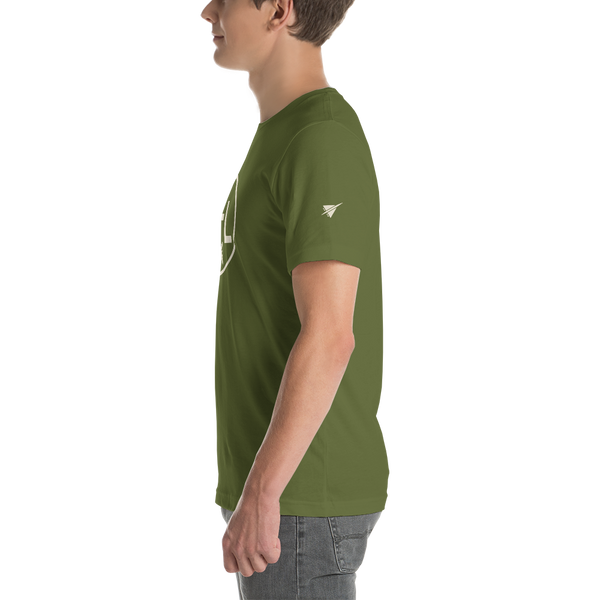 YHM Designs - DEL Delhi Airport Code T-Shirt - Adult - Olive Green - Christmas Gift