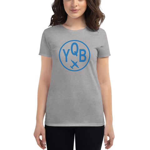 YHM Designs - YQB Quebec City Airport Code T-Shirt - Women's - Birthday Gift