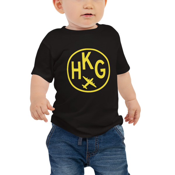 YHM Designs - HKG Hong Kong Airport Code T-Shirt - Baby Infant - Boy's or Girl's Gift
