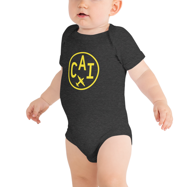 YHM Designs - CAI Cairo Airport Code Onesie Bodysuit - Baby Infant - Grandchild Gift
