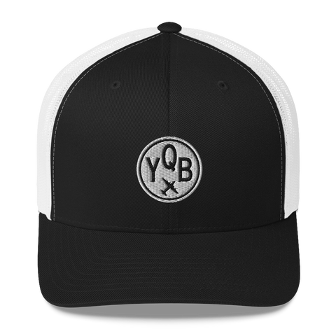 YHM Designs - YQB Quebec City Airport Code Trucker Cap-1