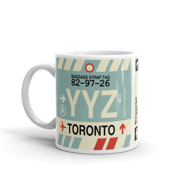 YHM Designs - YYZ Toronto Airport Code Coffee Mug - Birthday Gift, Christmas Gift - Left