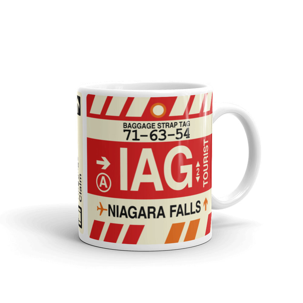 YHM Designs - IAG Niagara Falls Airport Code Coffee Mug - Graduation Gift, Housewarming Gift - Right