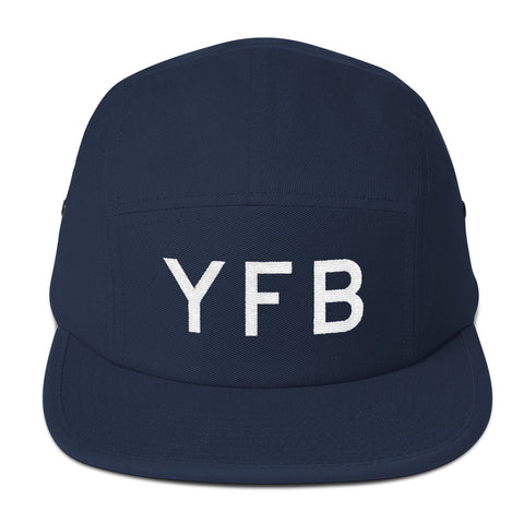 YHM Designs - YFB Iqaluit Airport Code Camper Hat - Navy Blue - Front - Christmas Gift
