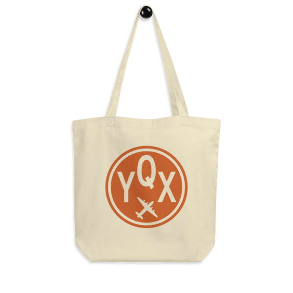 YHM Designs - YQX Gander Airport Code Organic Cotton Tote Bag - Peg