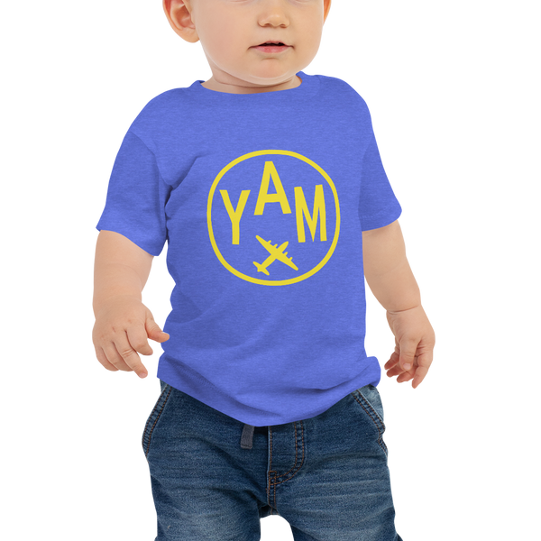 YHM Designs - YAM Sault-Ste-Marie Airport Code T-Shirt - Baby Infant - Boy's or Girl's Gift