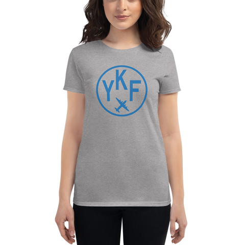 YHM Designs - YKF Waterloo Airport Code T-Shirt - Women's - Birthday Gift