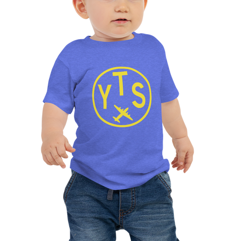 YHM Designs - YTS Timmins Airport Code T-Shirt - Baby Infant - Boy's or Girl's Gift