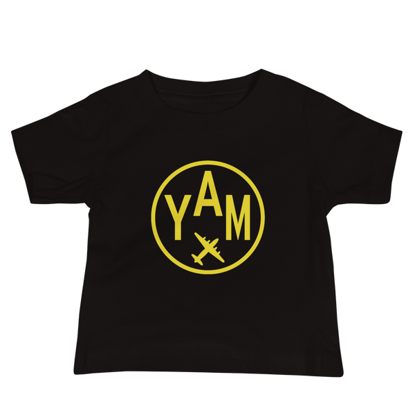 YHM Designs - YAM Sault-Ste-Marie Airport Code T-Shirt - Baby Infant - Kids' or Children's Gift