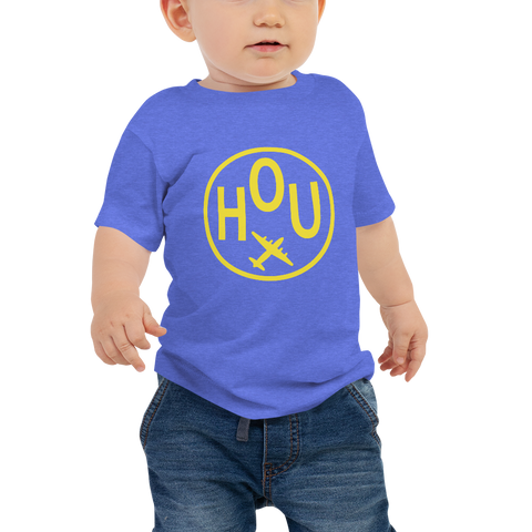 YHM Designs - HOU Houston Airport Code T-Shirt - Baby Infant - Boy's or Girl's Gift