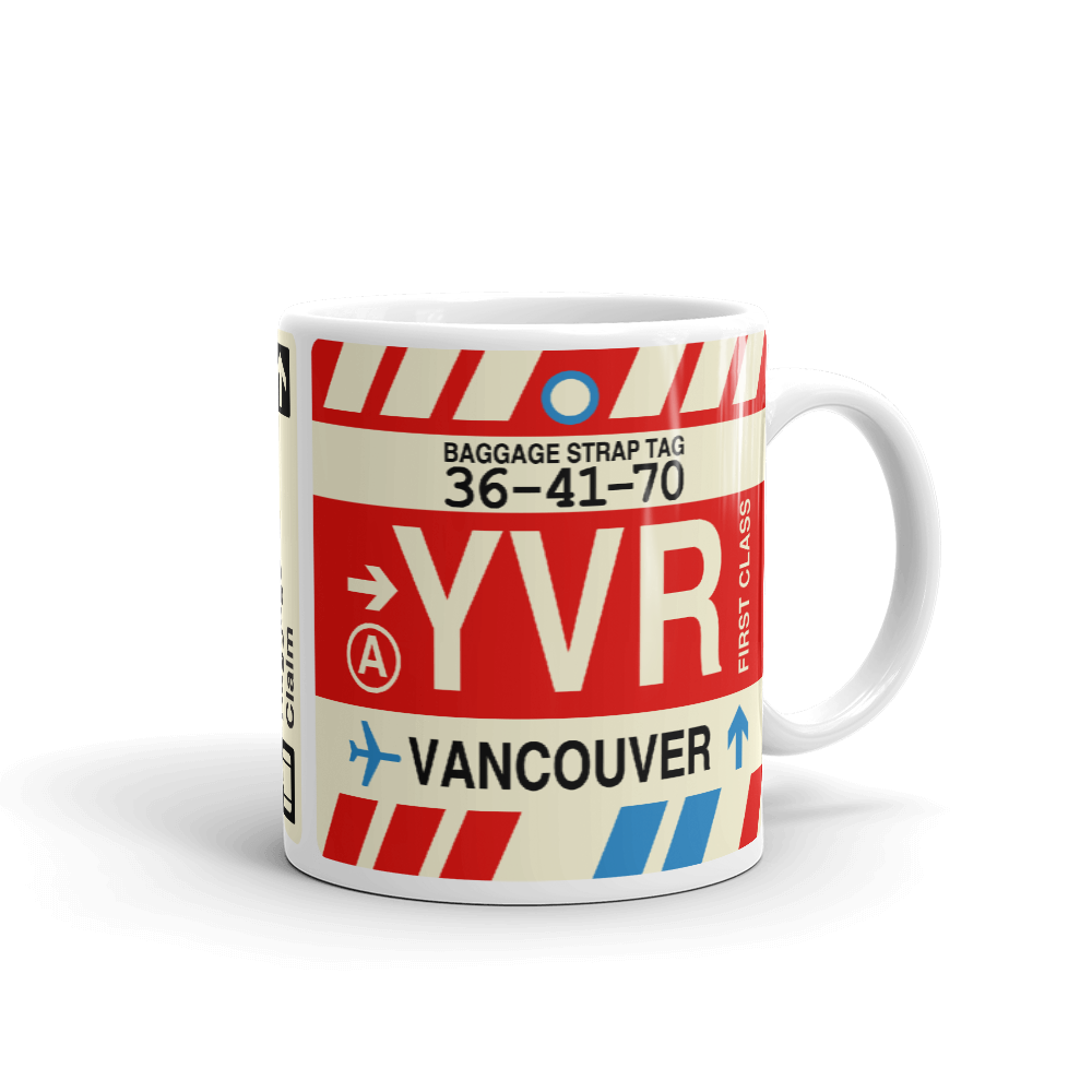 YHM Designs - YVR Vancouver Airport Code Coffee Mug - Teacher Gift, Airbnb Decor - Side