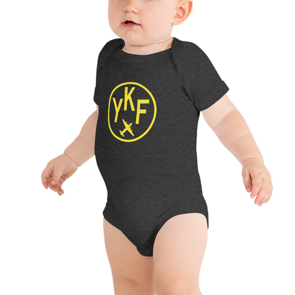 YHM Designs - YKF Waterloo Airport Code Onesie Bodysuit - Baby Infant - Grandchild Gift