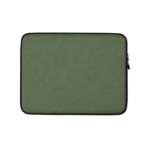 Contour Map Laptop Sleeve • Mid-Green