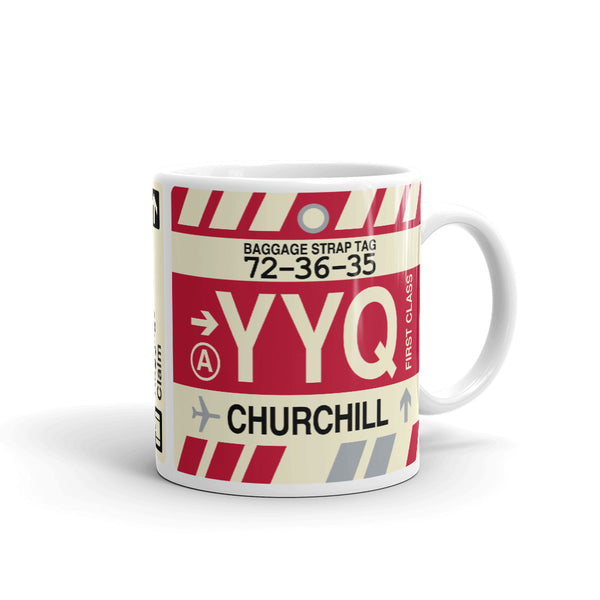 YHM Designs - YYQ Churchill Airport Code Coffee Mug - Teacher Gift, Airbnb Decor - Side