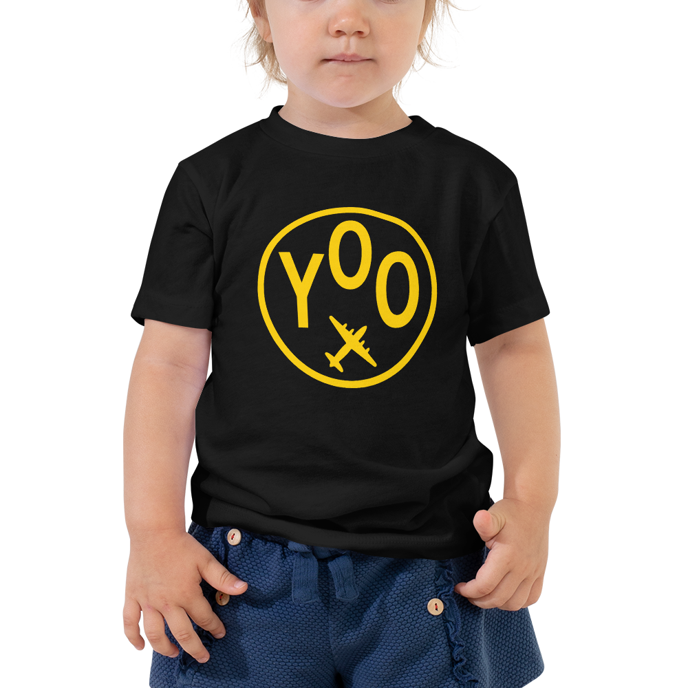 YHM Designs - YOO Oshawa Airport Code T-Shirt - Toddler Child - Grandchildren's Gift