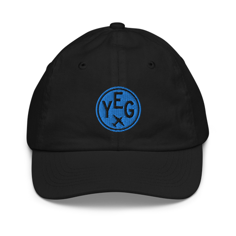 YHM Designs - YEG Edmonton Kids Hat - Youth Baseball Cap with Airport Code - Image 1