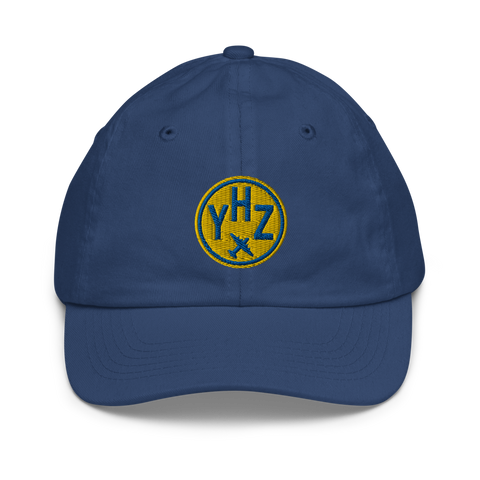 YHM Designs - YHZ Halifax Kids Hat - Youth Baseball Cap with Airport Code - Image 1