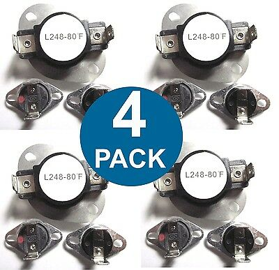 (4 PACK) LA-1053 LA1053 Maytag Dryer Thermostat Fuse Limit Set