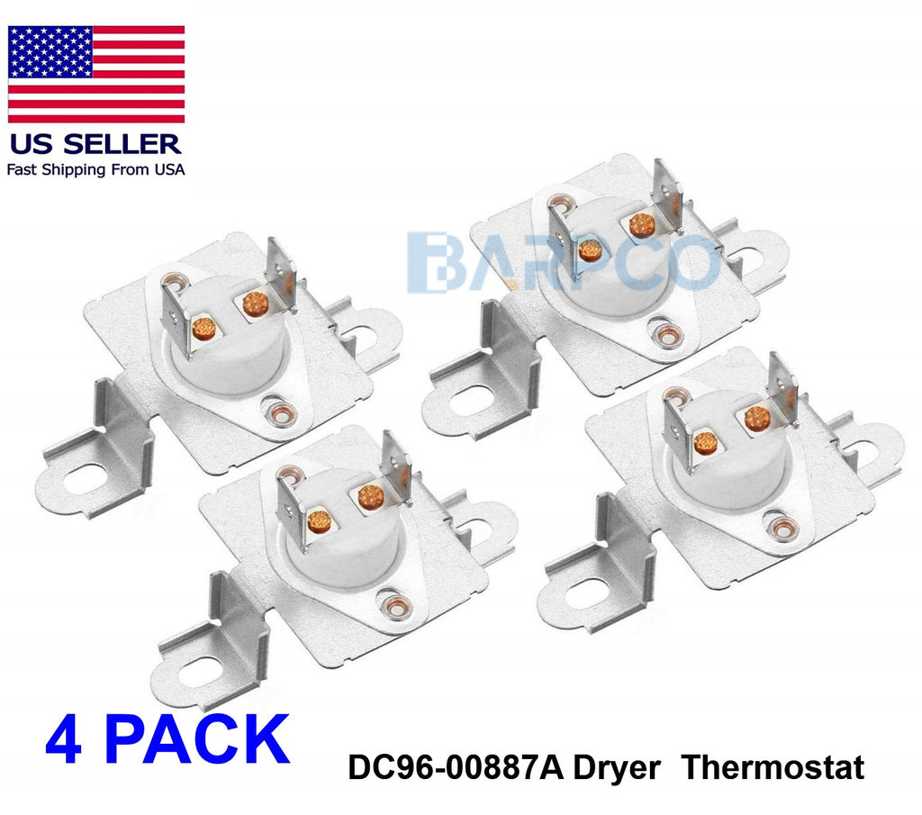 4 PACK DC96-00887A Dryer Thermostat for Samsung Whirlpool