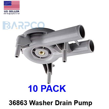 10 pack 36863 Whirlpool Maytag Washer Water Pump 35742 35742P 36863P