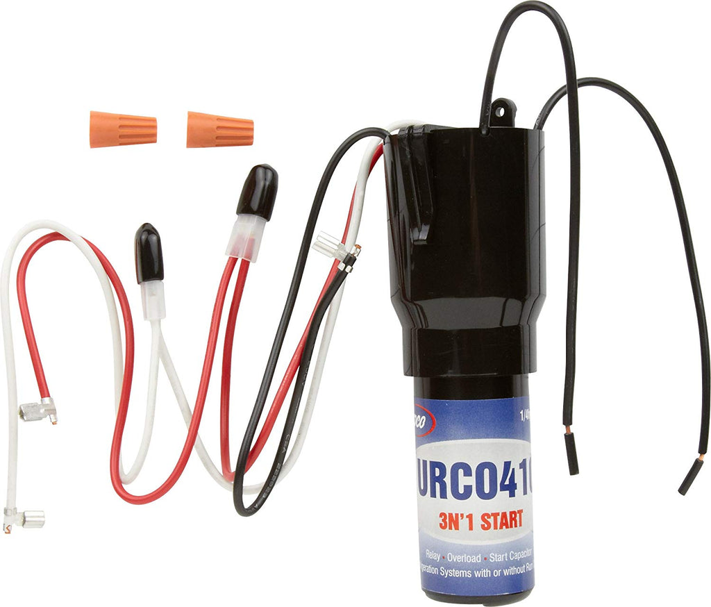 Refrigerator Relay Overload Start Capacitor URC0410 1/4 1/3 HP 3 n' 1