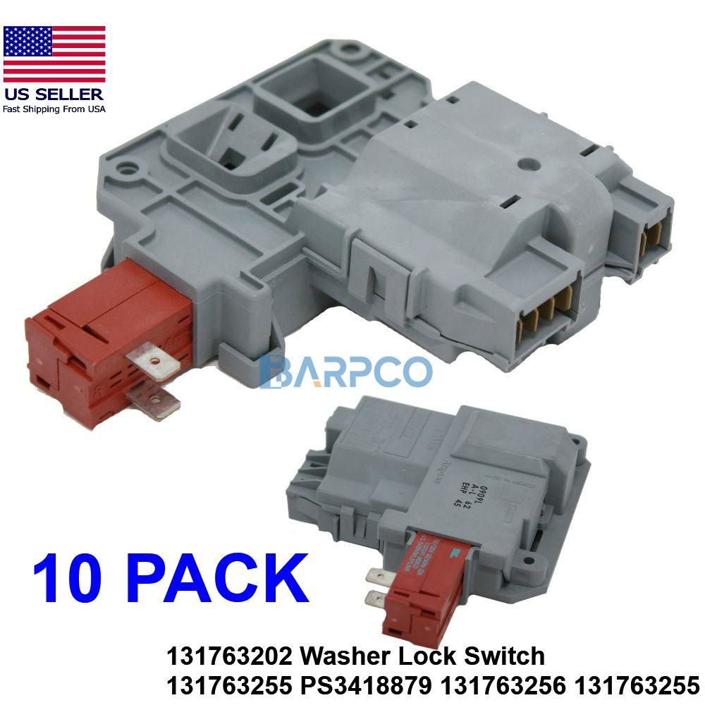 10 PACK 131763202 Washer Lock Switch 131763255 PS3418879 131763256 131763255