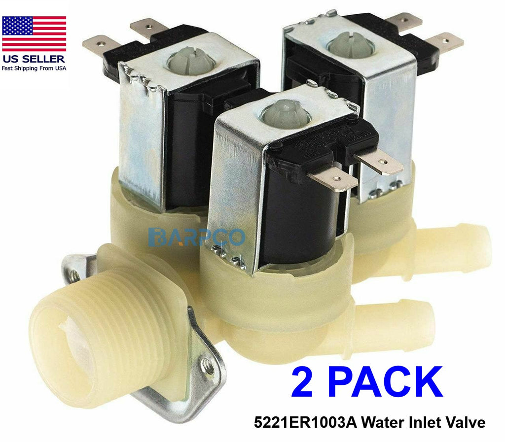 2 PACK 5221ER1003A Water Valve for LG Kenmore Washer PS11728995 AP5986564
