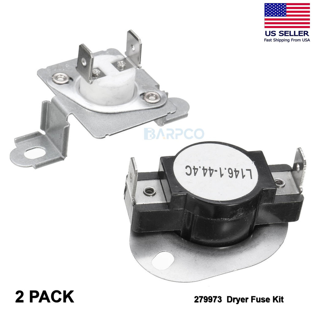 2 Pack 279973 AP3094323 PS334387 Dryer Fuse Kit Fits Whirlpool Kenmore Maytag