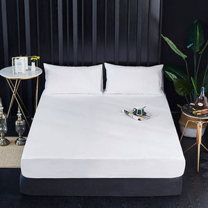 Fitted Sheet Mattress Cover Solid Color Sanding Bedding Linens Bed Sheets With Elastic Band Double Queen Size Bedsheet 180X200CM