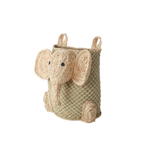RICE Hanging Seagrass Basket mit Elefant