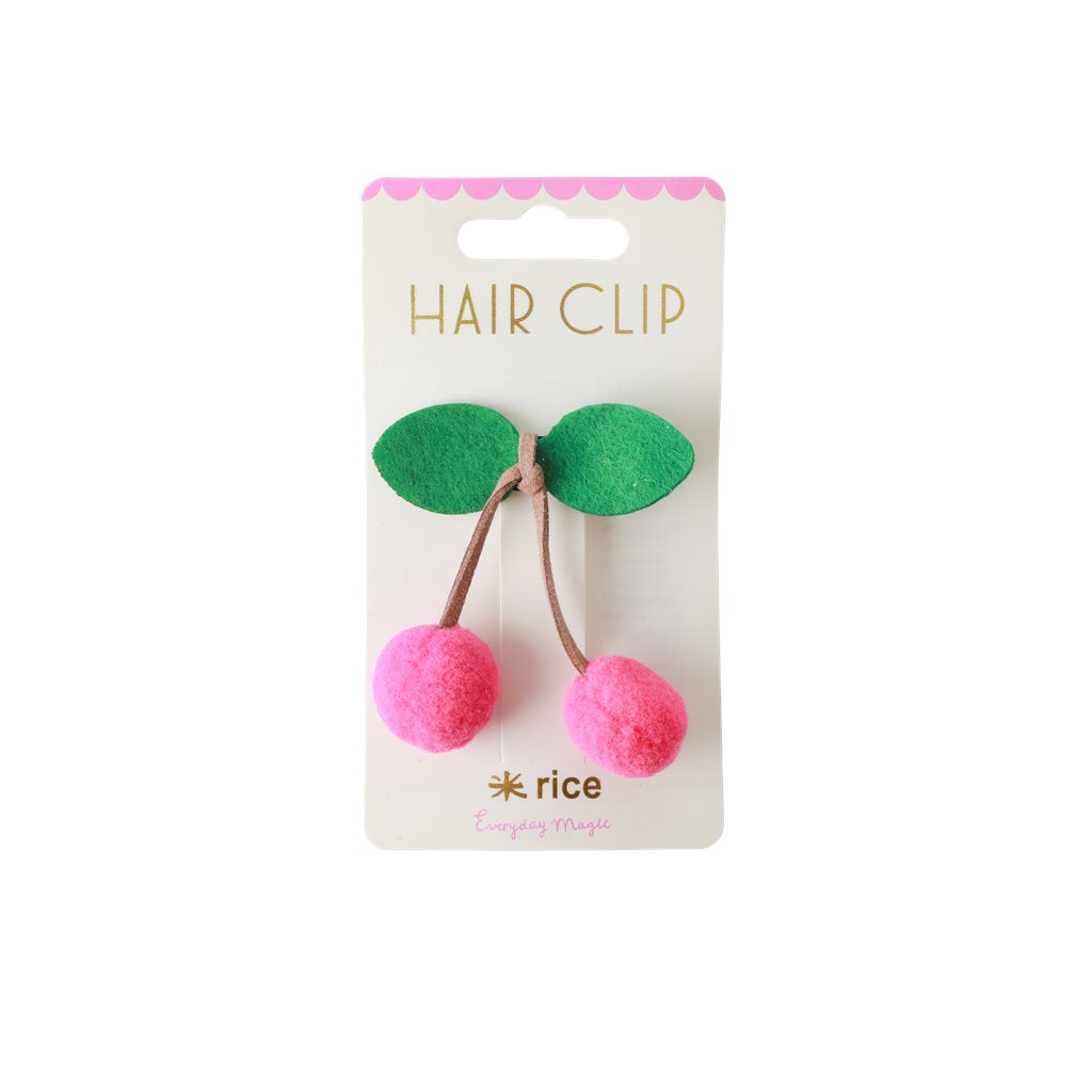 RICE hair clip with cherry