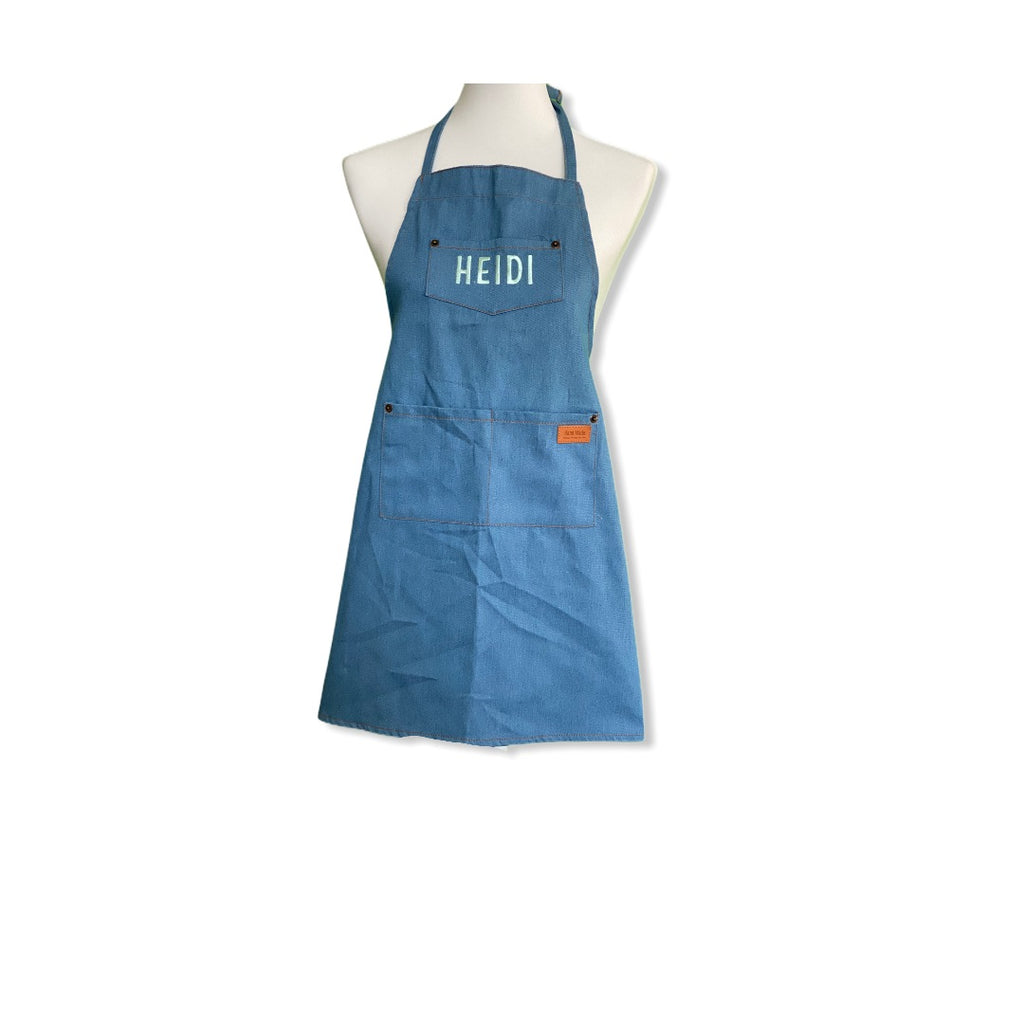 Heidi and Paul children's apron made of denim