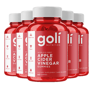 Goli Apple Cider Vinegar Gummies - 5 Bottles