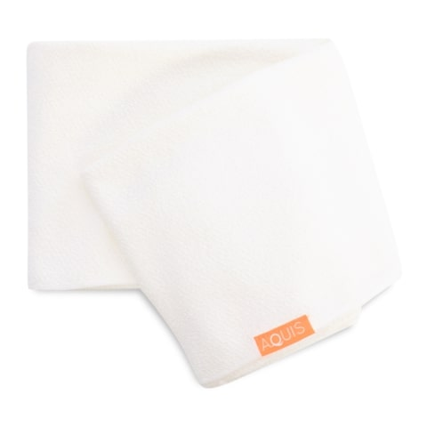 White Lisse Hair Towel
