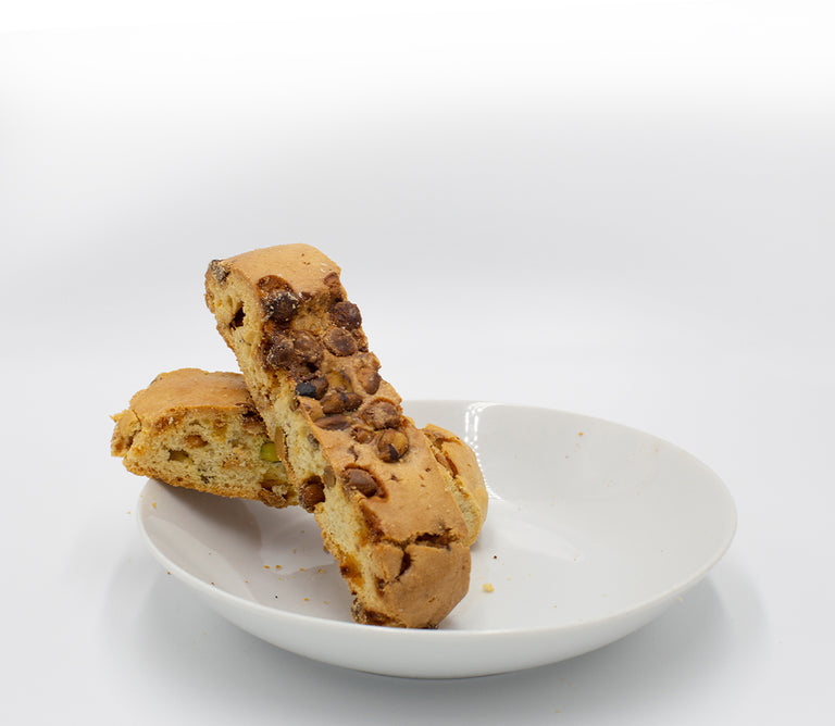 Pistachio White<br>Chocolate Biscotti