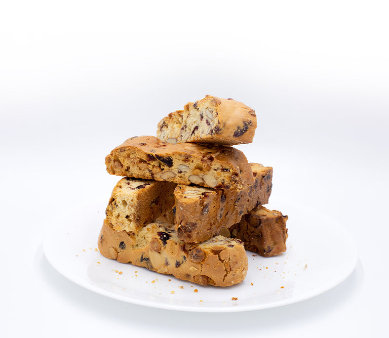 Cranberry Almond with<br>White Chocolate Biscotti