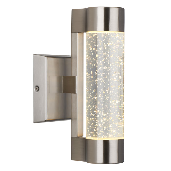 Led Outdoor Wall Light, Silver