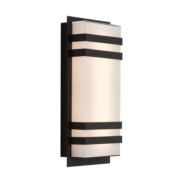 Led Outdoor Wall Light, Black