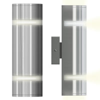 Outdoor Wall Light, Brushed Steel