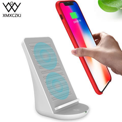 Desktop Wireless Charger Mobile Phone Holder With Speaker