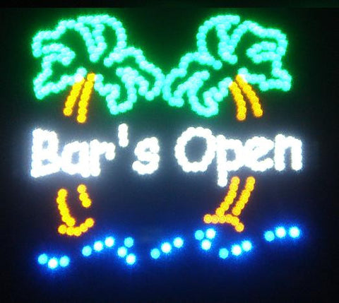 LED Bars Open Sign
