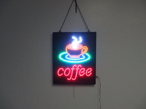 LED Coffee Sign 001