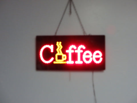 LED Coffee Sign 002