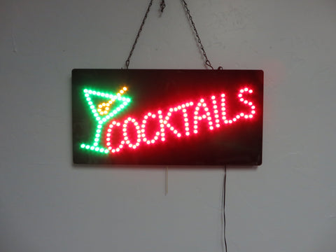 LED Cocktails Sign