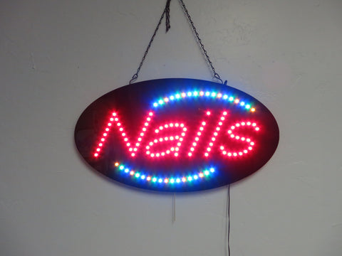 LED Nails Sign