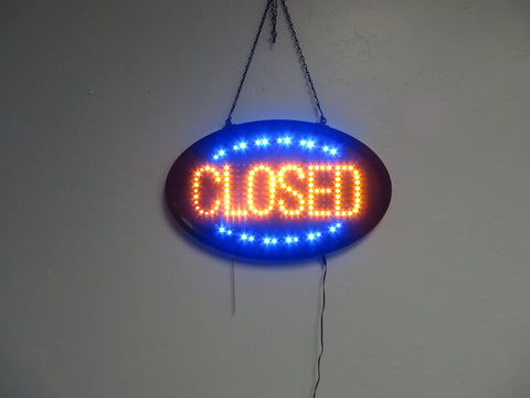 LED OPEN-CLOSED SIGN OVAL