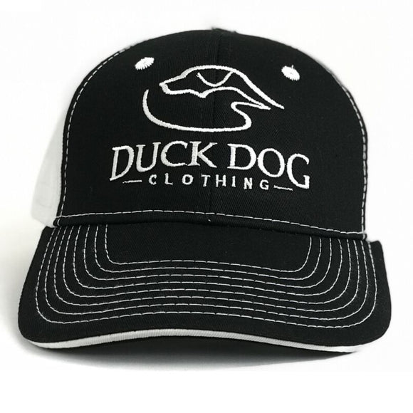 Full Logo-Semi-Flat Bill - Black/White
