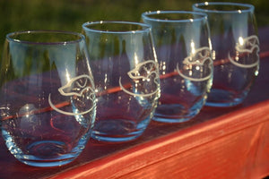 Duck Dog Stemless Glasses